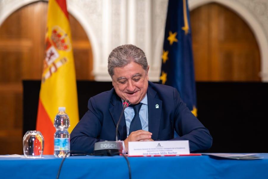 Comisión de Seguimiento del Memorándum de Entendimiento. Enric Millo en el acto de conmemoración en la Fundación Tres Culturas